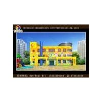 承接南阳南召县幼儿园艺术墙体彩绘 幼儿园卡通墙体彩绘