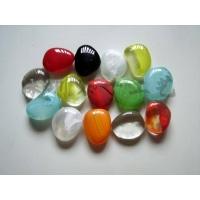琉璃雨花石 彩色透明园艺景观卵石 水晶玻璃石