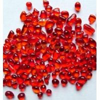 多彩琉璃石/透光石 -- 明红色