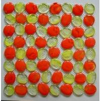 自由石马赛克,拼图网贴--红黄配/紫白配