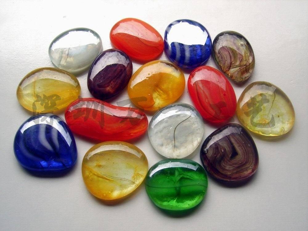 透明 自由/琉璃自由石,透明鹅卵石,贴面用彩色透明景观石...