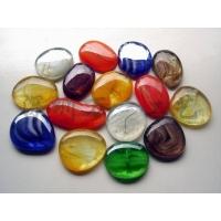 琉璃自由石,透明鹅卵石,贴面用彩色透明景观石
