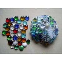 琉璃扁珠,水晶玻璃扁珠,红色玻璃扁珠,弯珠
