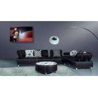 现代简约休闲转角休闲真皮沙发 顺德直销客厅家具D806#