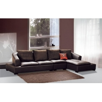 现代简约休闲转角休闲布艺沙发顺德直销真皮客厅沙发D821#