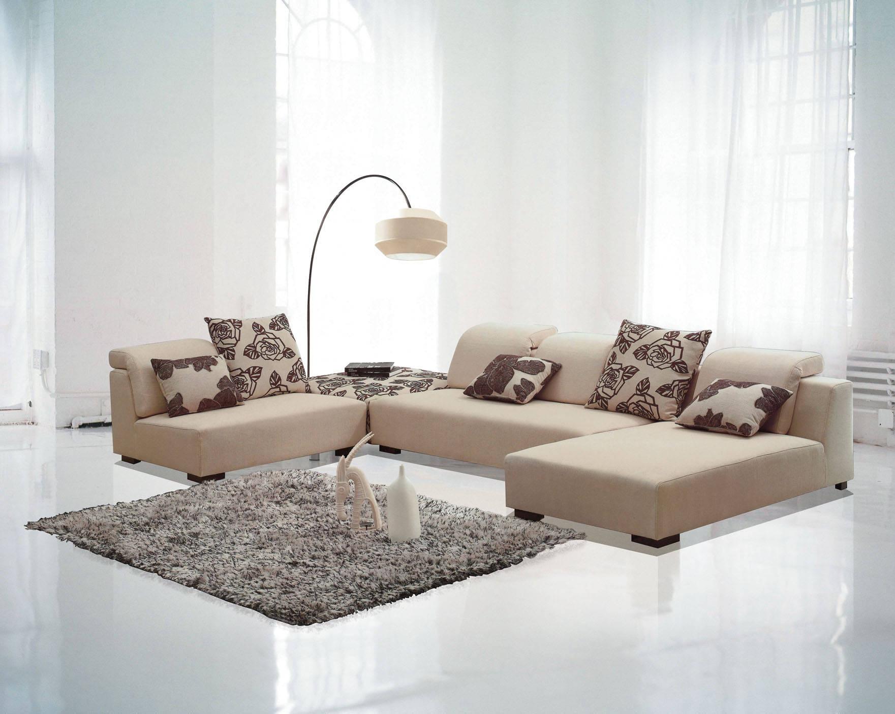 现代简约休闲转角休闲布艺沙发 顺德直销客厅家具D911#B