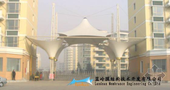 辽宁 上海/湖南膜结构建筑门头、上海张拉膜公园大门入口,重庆建筑入口膜.