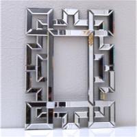 恒舜基艺术玻璃古典宫廷装饰创意镜玄关玻璃挂镜