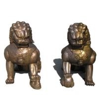 南京雕塑-南京天将雕塑-铜狮-锻铜雕塑