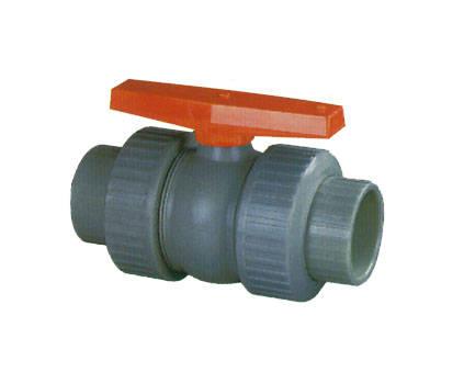 超绿牌ABS塑钢管件 双由令球阀