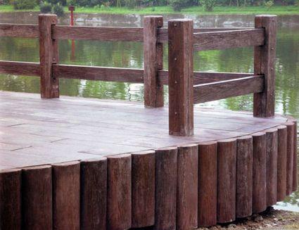 供应仿木栏杆,仿木标识牌,仿木栈道展望台