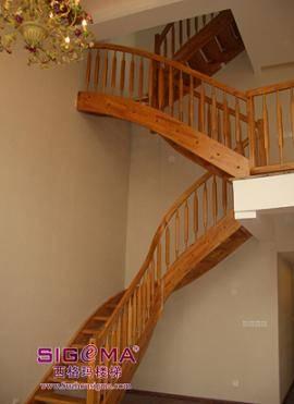 欧式实木楼梯间墙裙