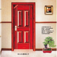 南京鋼木室內門-邦坤室內門-BK-204泰國紅木