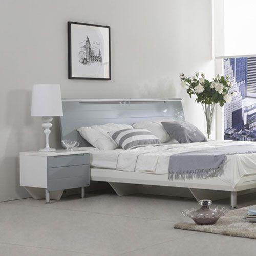X-832床+床头柜-香槟色