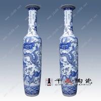 青花雕龙陶瓷大花瓶 开业庆典礼品花瓶 陶瓷装饰品花瓶