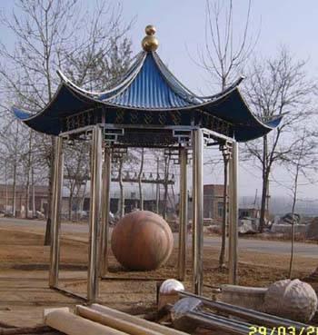 罗马柱,风水球