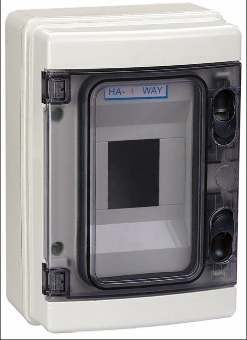 欧标意大利式明装防水配电盒ha-4ways断路器开关盒