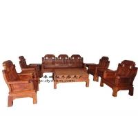 厂家直销红木家具东阳木雕大果紫檀缅甸花梨木象头沙发10件套