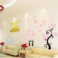 心树+心+小人◆秀美墙贴◆涂鸦/墙纸/现代人生/