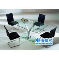 玻璃西餐桌|玻璃西餐台|西餐厅家具