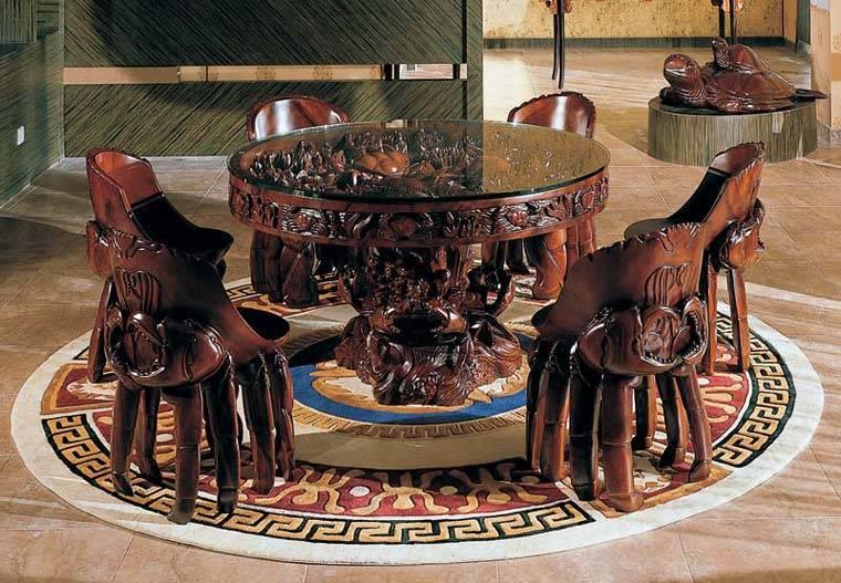 雕刻工艺品-纯实木家具