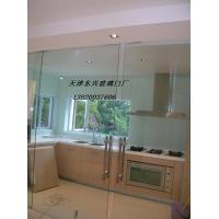 天津玻璃门安装 河西区安装玻璃门 专业安装无框玻璃门