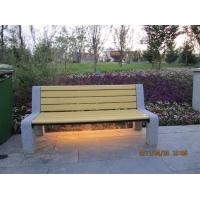 银川公园椅、银川园林椅塑木地板花箱