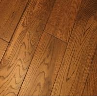 供应 橡木 拉丝实木地板 柚木色