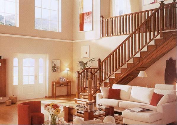 高档l形实木楼梯