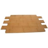 成都康丽竹地板-碳化耐磨对节中色竹地板