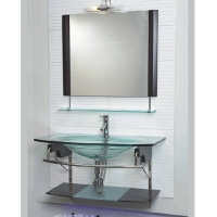 欧派卫浴洁具-钢化玻璃台盆