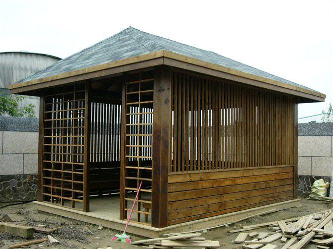 木屋栅栏矢量图素材