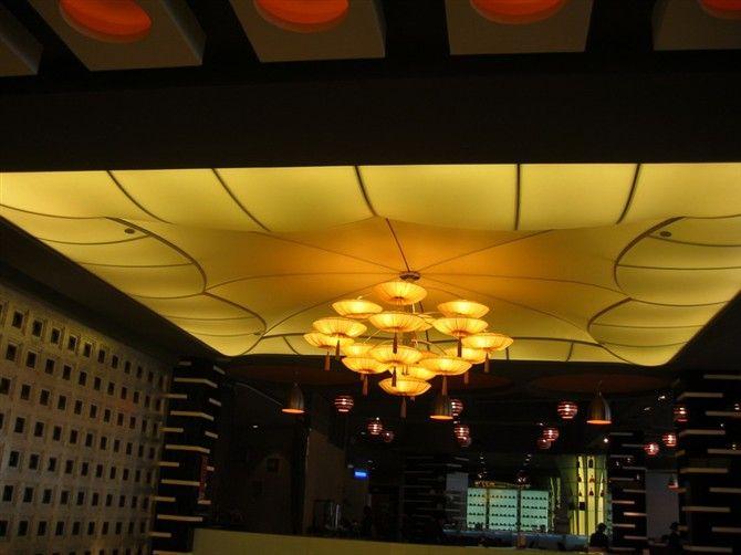 南京新街口柔性天花装饰 玄武喷绘拉膜天花 高淳灯光软膜