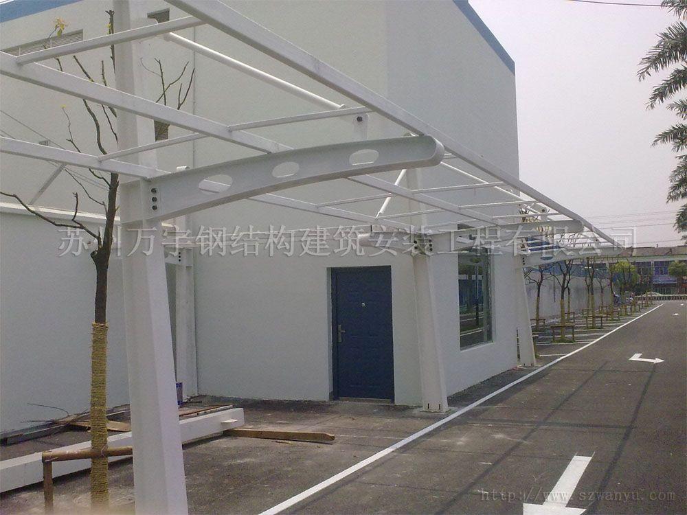 苏州玻璃雨棚钢化雨棚小区雨棚制作