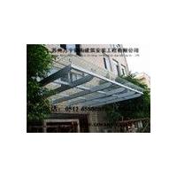 钢结构阳光板玻璃雨棚直销