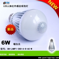 LED感应球泡灯6瓦秃头