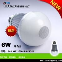 LED感应球泡灯6瓦平头