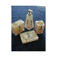 浴室四件套—海马-树脂