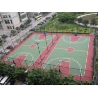 塑胶篮球场塑胶球场地面材料篮球场地施工建设