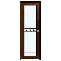 成都黑胡桃平开门右锁贴片玻璃 YA-057