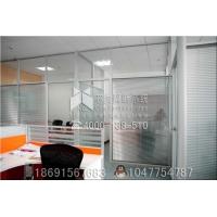 西安办公室玻璃隔断高隔间百双玻叶隔断