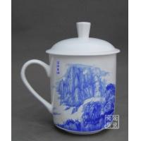 供应景德镇纪念杯,定做陶瓷茶杯,手工陶瓷会议杯