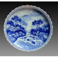 陶瓷装饰摆盘,工艺礼品纪念,青花瓷陶瓷赏盘
