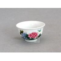 手绘瓷碗定做陶瓷盖碗青花瓷玲珑碗