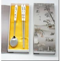 供应精美陶瓷两件套餐具 家居刀叉组合