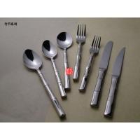 【优质不锈钢】生产制造竹节系列不锈钢刀叉餐具