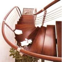 南京安桥楼梯-钢木结构楼梯-豪华护栏