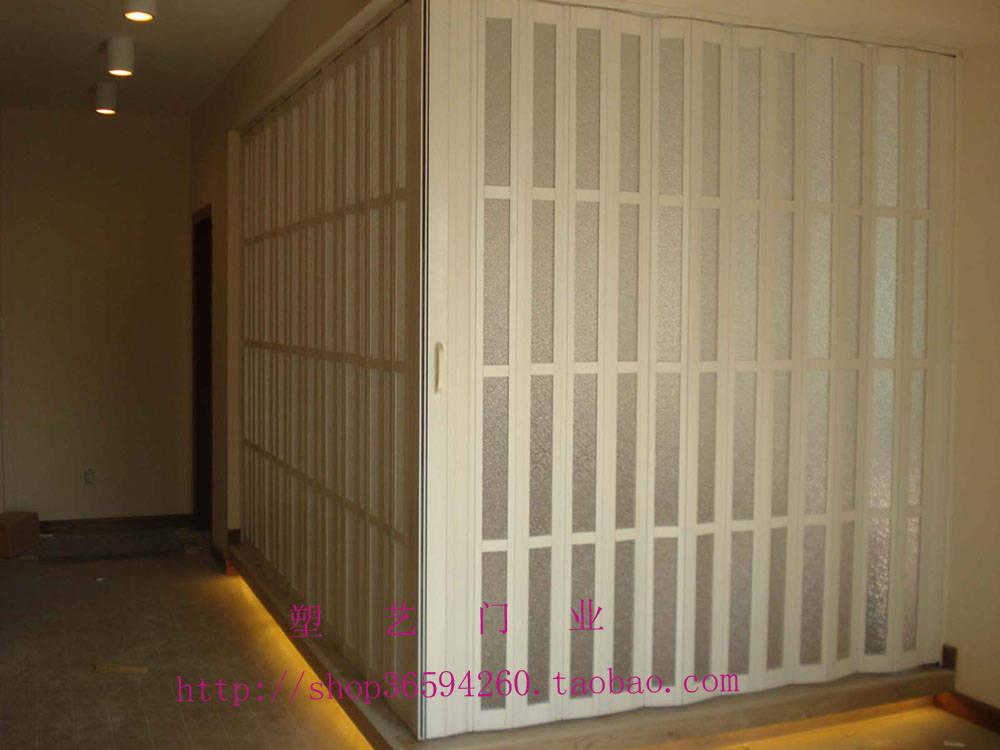 房间隔断 pvc折叠门