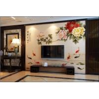 新品首发  唐梦瓷砖电视背景墙 富贵有余