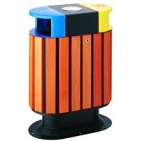 园林垃圾桶 园林木条垃圾箱